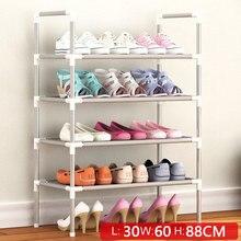 Простой многослойный стеллаж для обуви из нетканых материалов, легкая сборка, полка для хранения, металлическая подставка, сделай сам, обувной шкаф, мебель для гостиной