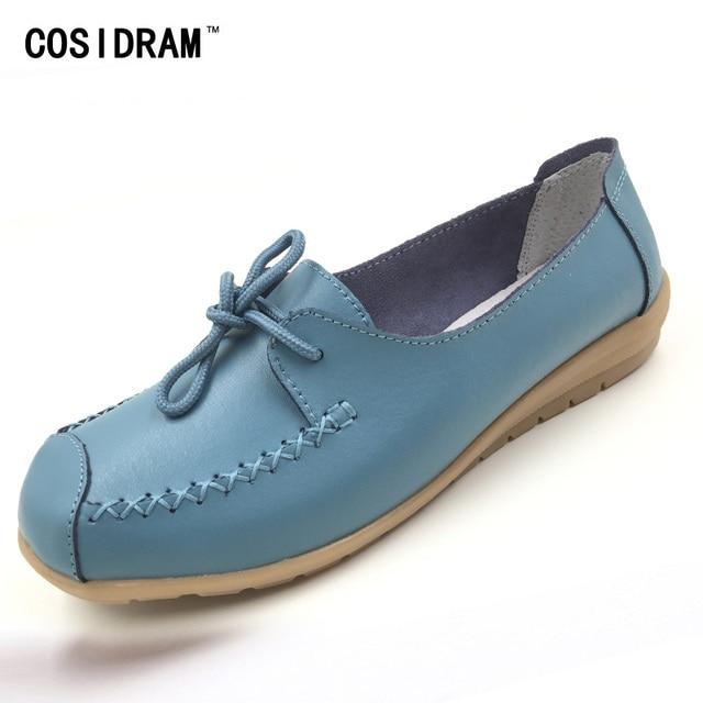 Новые 2016 Женщины Обувь Из Натуральной Кожи Женщины Квартиры Мода Повседневная Обувь Узелок Женщины Loafer Квартиры Обувь Zapatos Mujer BSN-606