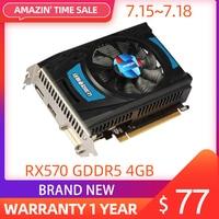 Yeston Radeon RX 550 GPU 4 ГБ GDDR5 128bit игровой настольный компьютер ПК видеокарты Поддержка DVI-D/HDMI2.0B PCI-E 3,0