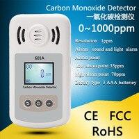 Detector de monóxido de carbono portátil digital alarme de gás co