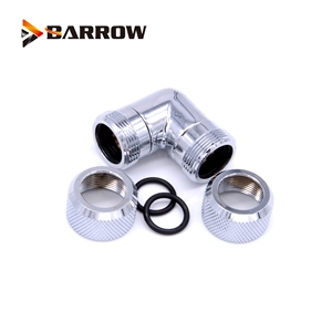 Image 4 - 4pcs/lots G1/4 thread Dual 90 Degree Rotary Fitting Adapter Rotating 90 Angle Adaptors use for OD12mm/14mm/16mm Hard Tube