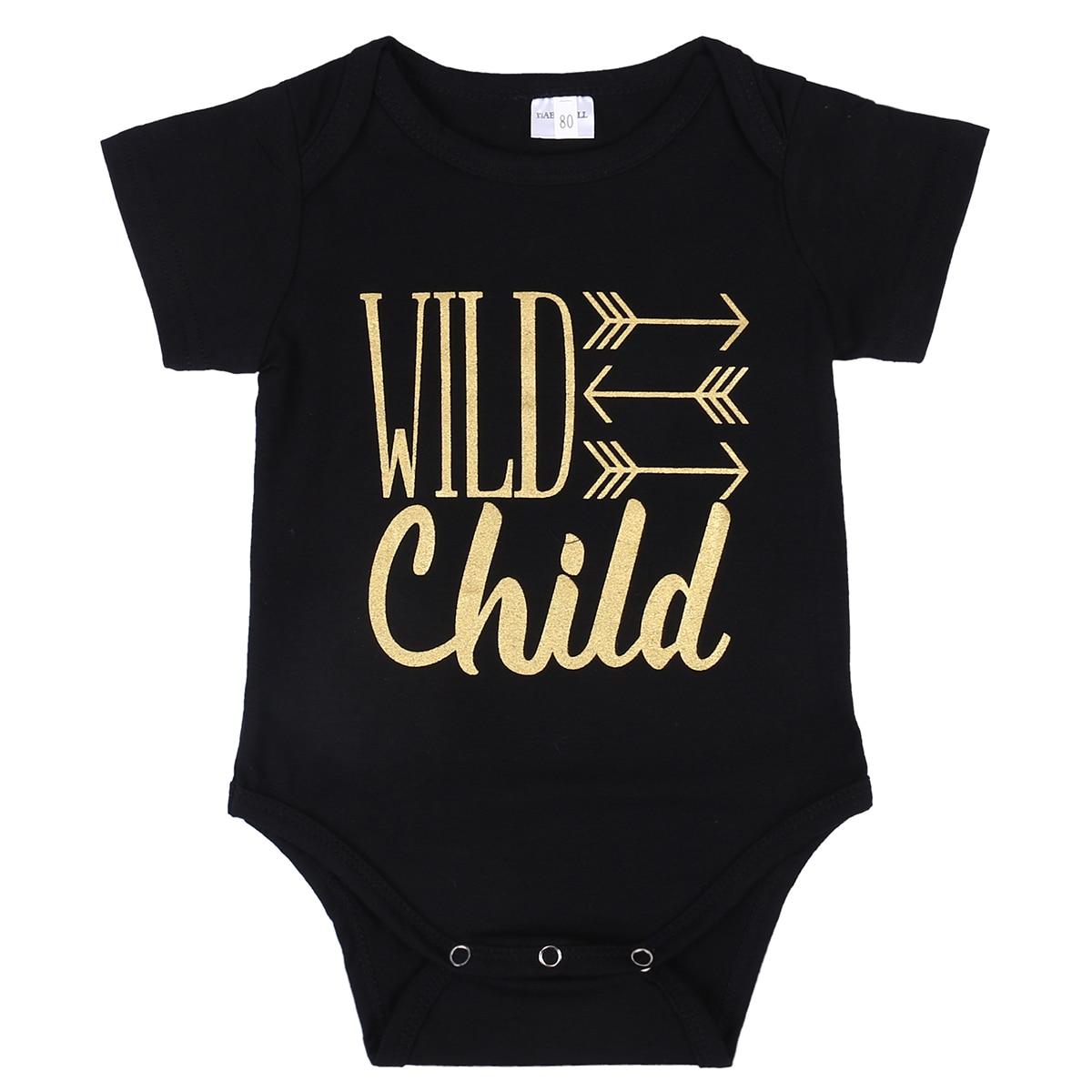 0 18m Newborn Baby Bodysuit Clothes Casual Infant Bebes Wild Child