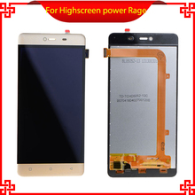For Highscreen Power Rage Original Lcd screen Display black white Touch Panel Digitizer Assembly repalcement parts