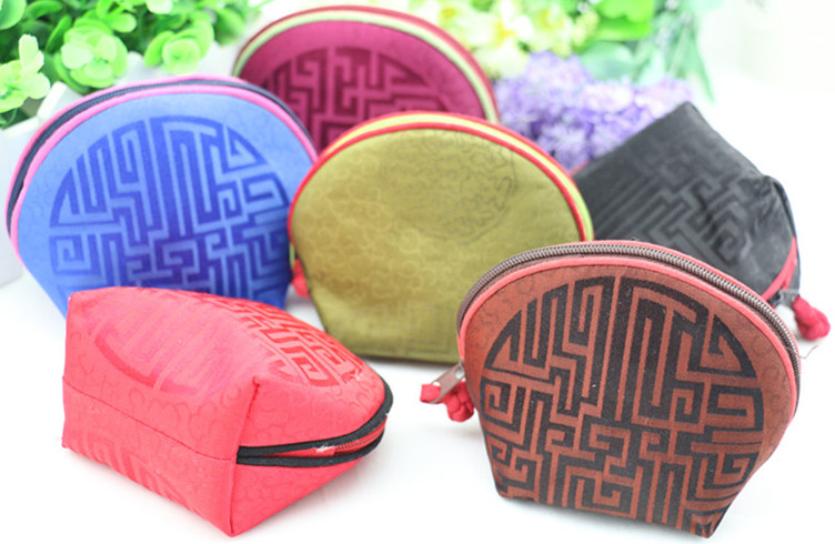 Chinese Natural Mulberry Silk Bag Fine Small Zipper Cute Coin Purse High End Christmas Candy Gift