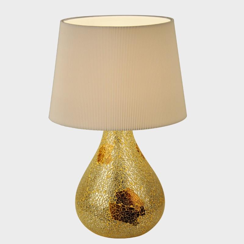 Tuda Free Shipping Modern Design Table lamp Golden Ceramic Decorative Glass Table Lamp Modern Fashion Home Decor Desk Lamp