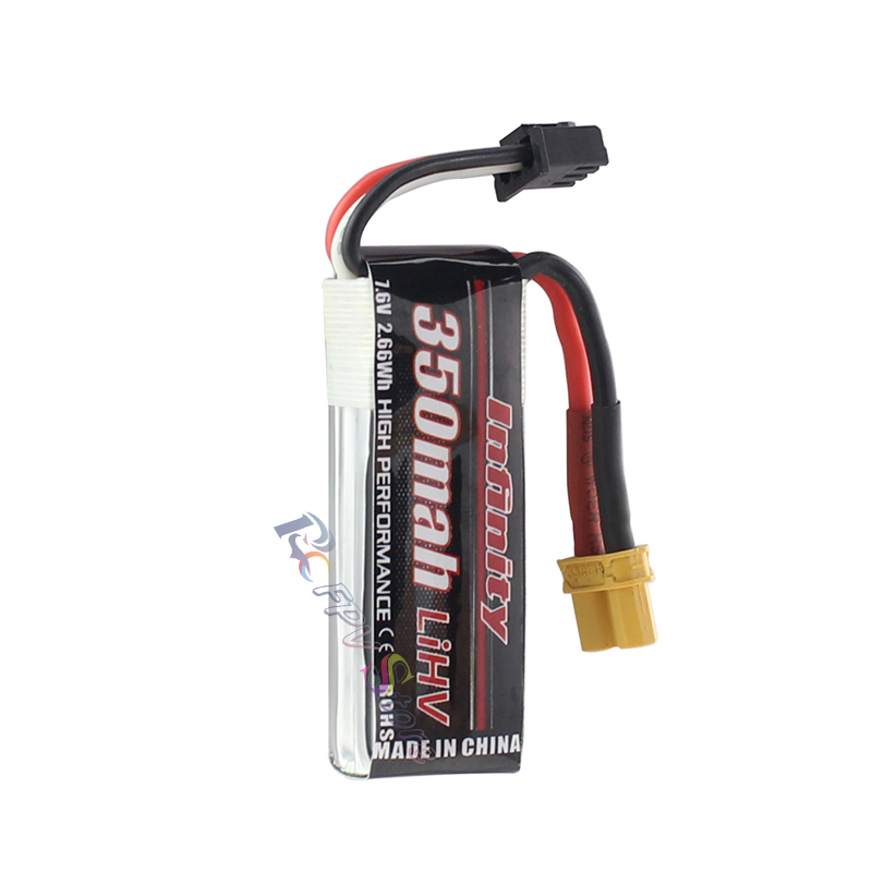 Image 2 - 5PCS Infinity Lipo Battery 350mAh 2S 7.6V 85C FPV Battery With Amass XT30  XT30U Plug for Indoor Racing Drone Toy-in Parts & Accessories from Toys & Hobbies