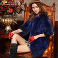 2015 winter luxury fashion brand slim medium long ladies real raccoon fur coat jacket 5colors S/M/L/XL/XXL free shipping D2085