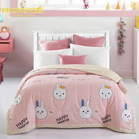 Night Tender 100% cotton 3d bunny quilted bedspreads/throws single double bed 1pc for spring summer autumn