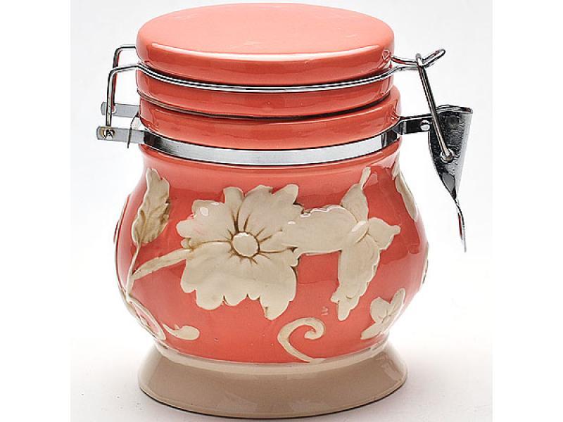банка для сыпучих продуктов loraine розы и бабочка 750 мл Банка для сыпучих продуктов LORAINE, Розы, 0,6 л