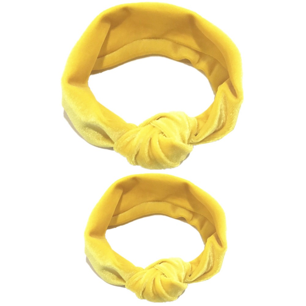 Parent-child Knotted Hair Band Headband Cotton Stretch Gold Velvet Mother Baby Holiday Hair Ring Headwear Hair Accessory (5)