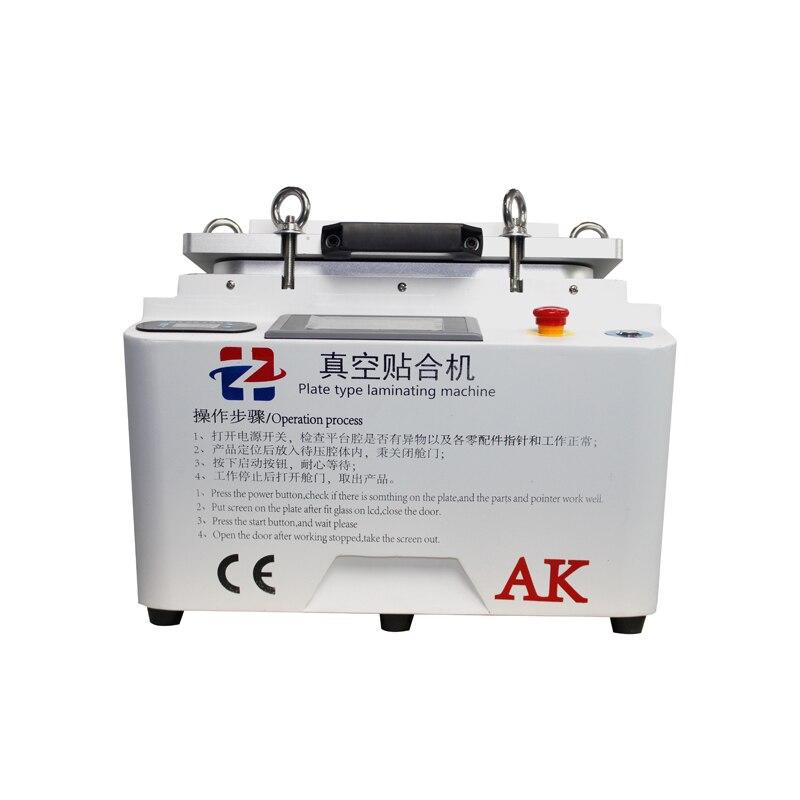 NEW White AK 2 In 1 OCA Vacuum Laminating Machine And Remove Bubble Machine 12 Autoclave Lcd Laminating Machine