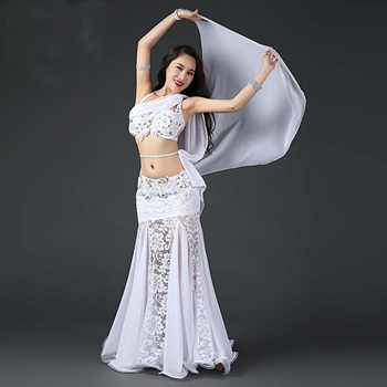 Professional Belly Dancing Costumes Set Performance Diamond 2PCS Bra Skirt Luxury Handmade Women Belly Dance Colour 3
