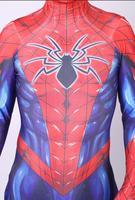 All New Spiderman Cosplay Costume 3D Print Spandex Spiderman Zentai Spiderman Bodysuit halloween costume for Adult Men Kids