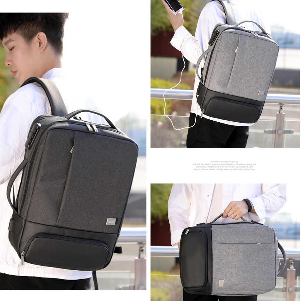 男性バックパック多機能抗盗難ラップトップの学生 Bagpack ノートブックの Usb 充電防水メンズバックパックビジネス男性バッグ