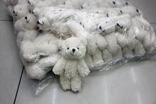 20pcs lot Mini Joint Teddy Bear plush toys chain white gummy bears 12cm animal for Wedding
