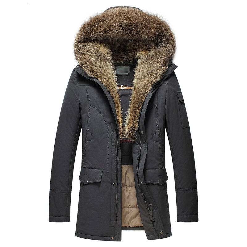 New Cotton Jacket Men Warm Winter Outwear Coat Fur Collar Hooded Parka Fashion Thicken Coats hot sale winter jacket men fashion cotton coat warm parka homme men s causal outwear hoodies clothing mens jackets and coats