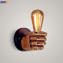 IWHD Resin Retro Vintage Wall Light Fixtures Creative Fist LED Edison Wall Sconce Appliques Murale Loft Industrial Wall Lamp