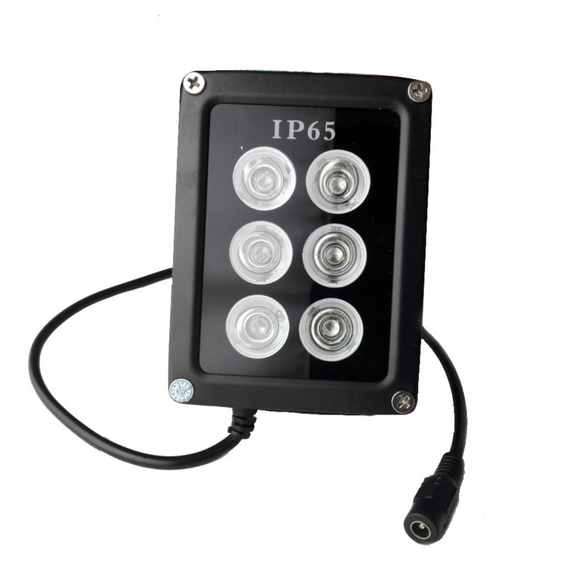 6 <font><b>LED</b></font> Infrared Night Vision <font><b>IR</b></font> Light <font><b>illuminator</b></font> Lamp Waterproof Housing For CCTV Security Camera System