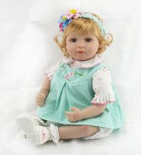 Silicone Reborn Babies Doll 22 Inch Lovely NPK Collection Doll Realistic Newborn Baby Girl Kids Birthday Christmas Gift Juguetes