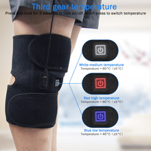 цена на Knee Support Fast-Heating Electric Knee Pad Provides Ultra Comfy Hot Therapy Knee Arthritis Pain Relief Injury Recovery