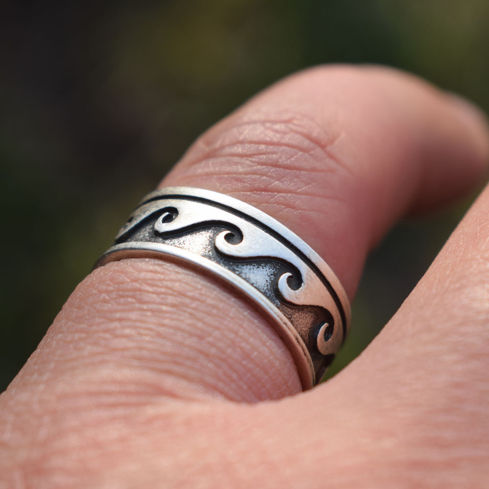 Wave Ring Beach Surf Ocean Tribal Ring Wave Summer Gif Nautical ...
