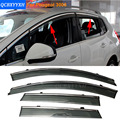 Car Stylingg Awnings Shelters 4pcs/lot Window Visors For Peugeot 4008//307hatchback/sedan ect Sun Rain Shield Stickers Covers