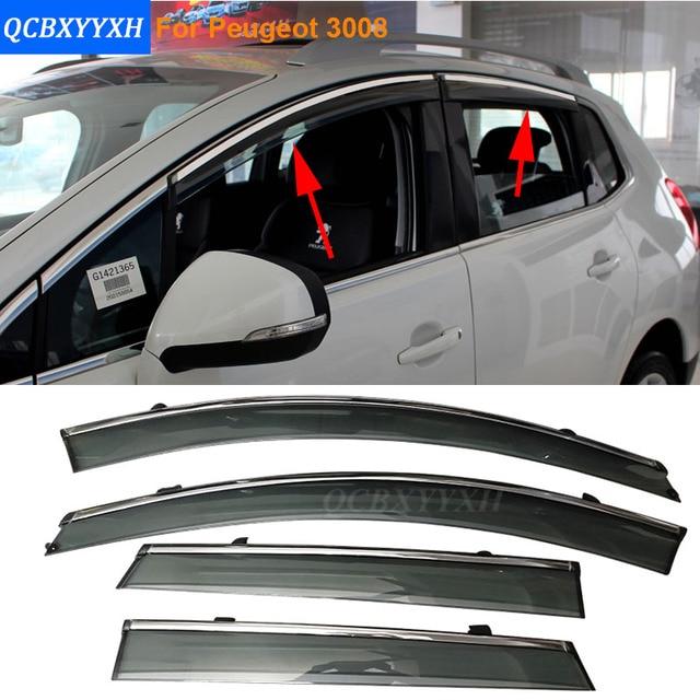 Coche Stylingg Toldos Refugios 4 unids/lote Ventana Viseras Para Peugeot 4008//307 hatchback/sedan ect Sol protección contra la Lluvia Cubre Las pegatinas