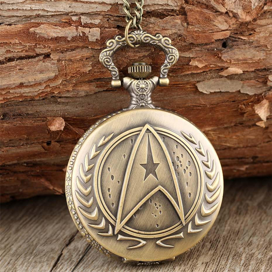 Retro Quartz Pocket Watch Pendant Clock Gifts For Men Women Kids With Fob Necklace Sweater Chain