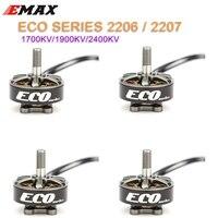 1PCS/2PCS/4PCS Emax ECO Series 2306 6S 1700KV 4S 2400KV 2207 1900KV Brushless Motor For RC Models Spare Part DIY Accessories