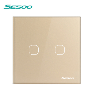 Image 3 - SESOO Wireless Remote Control Touch Switch For RF433 Smart Wall Light Switch Tempered Glass Panel