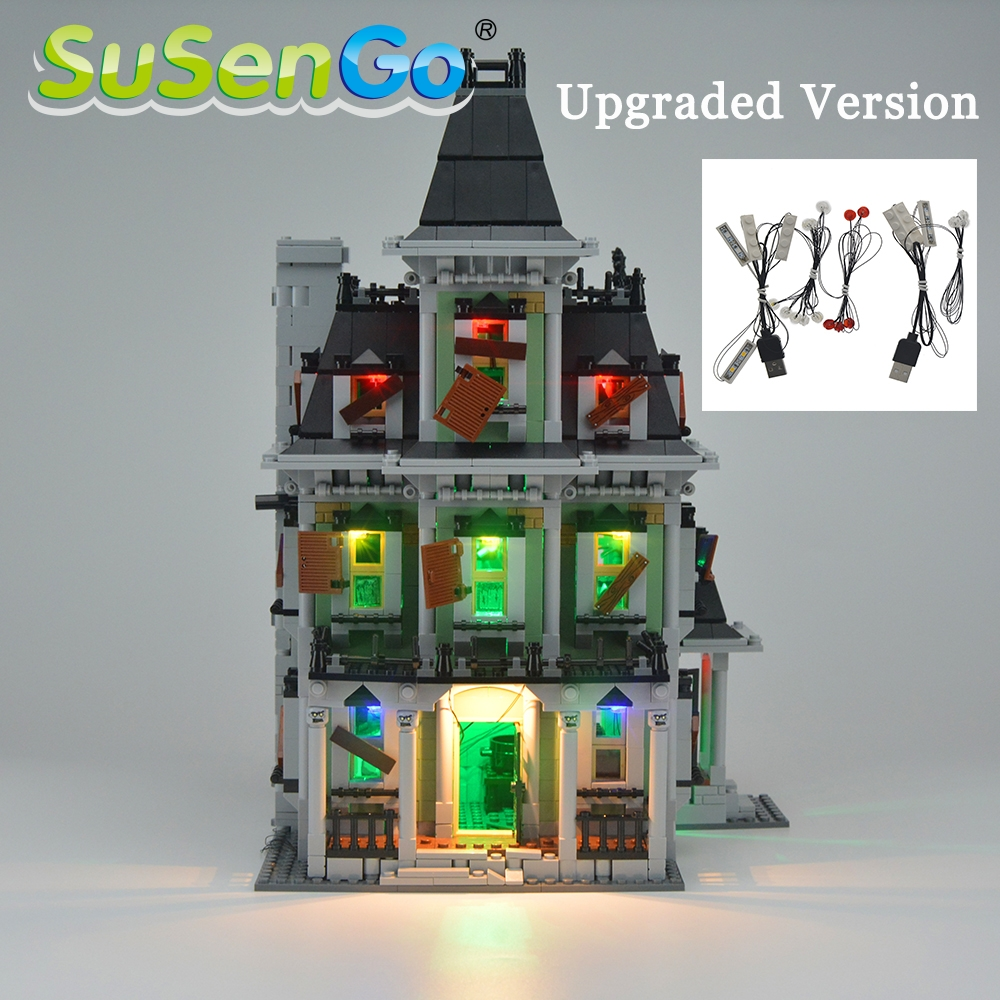 SuSenGo aggiornato / Kit luce LED originale per 10228 16007 Haunted House Model Creator Decorare Accessori Kit luce Giocattoli