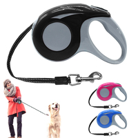 3M 5M Retractable Dog Automatic Dogs Leash Extending Puppy Walking Nylon Leashes For Small Medium Breeds