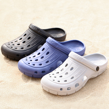 SUROM Summer Beach Sandals Men Comfortable EVA Couple Shoes