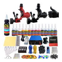Professional Tattoo Machine Set 2 Tatoo Guns 8 Color Inks Complete Tattoo Kit Rotary Tattoo Machine