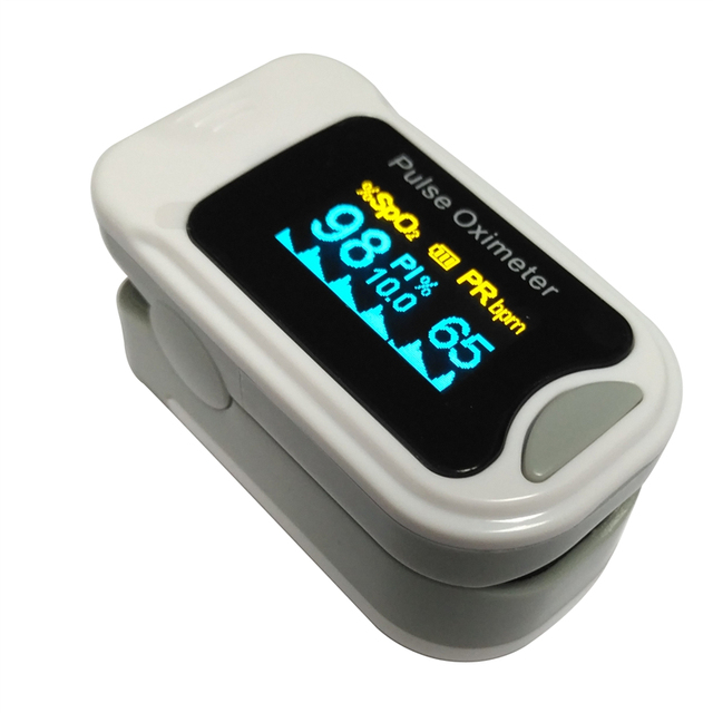 Oximetro Pulse Oximeter De Pulso De Dedo Fingertip Pulse Oximeter  Two Color Pulsioximetro Oled Heart Rate Monitor CE  M130B