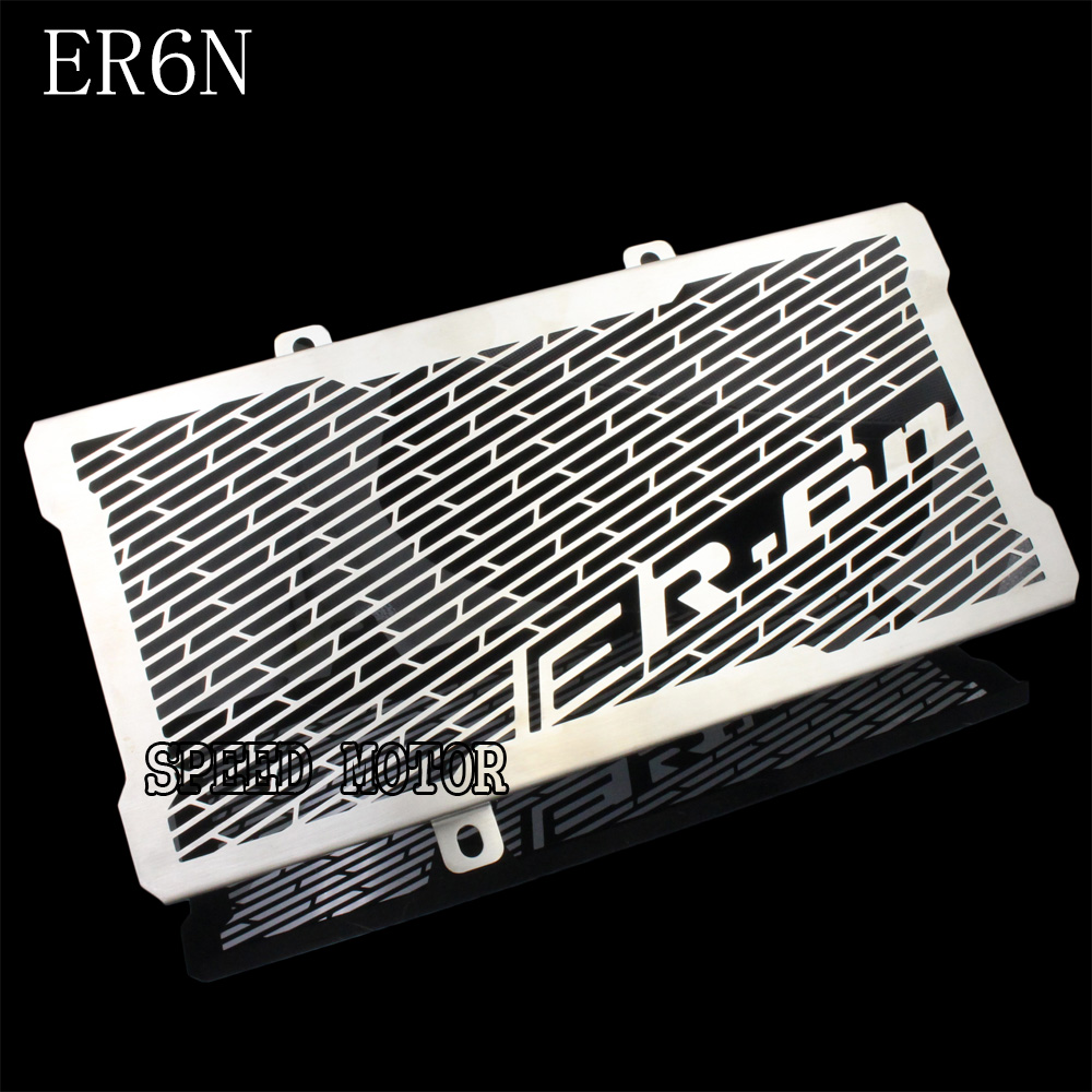 Motorcycle Stainless Steel Radiator Guard Protector Grille Grill Cover For Kawasaki Ninja ER6N ER-6N ER6F 2012 2013 2014 2015 motorcycle radiator protective cover grill guard grille protector for kawasaki z1000sx ninja 1000 2011 2012 2013 2014 2015 2016