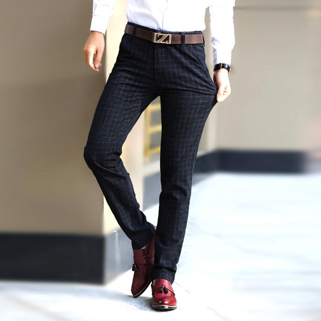 New England plaid pants and dress pants men sanding male trousers men's Spring and autumn Long pants