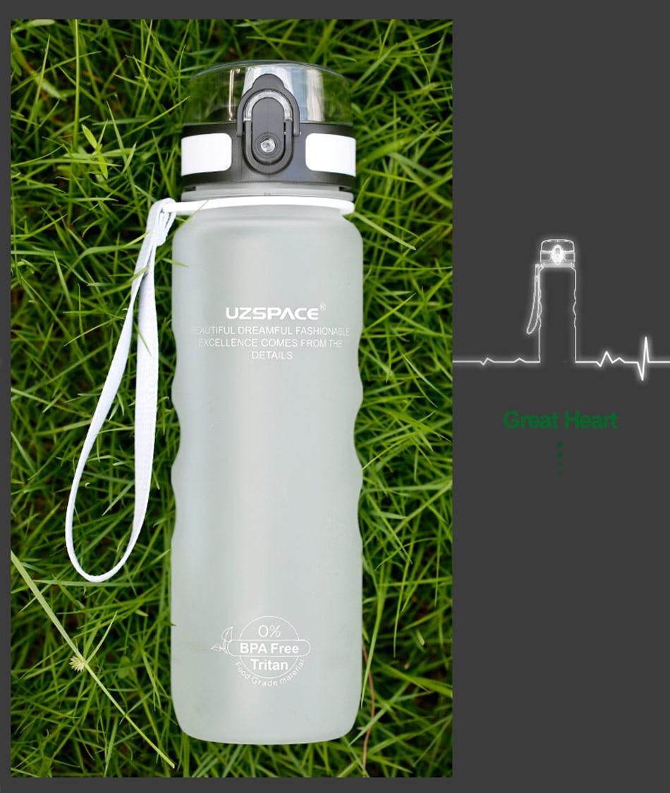 HTB1k4qJFCBYBeNjy0Feq6znmFXaS UZSPACE Sport Water Bottle Direct Drink or Straw fruit Infuser Bottle 500ml Portable Leakproof Gourde Plastic Drinkware BPA Free