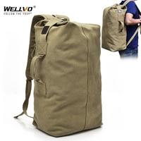 Men's Military Canvas Backpacks Multi purpose Bucket Travel Bag Large Shoulder Bags Men Army Tourist Foldable Hand Bag XA1934C