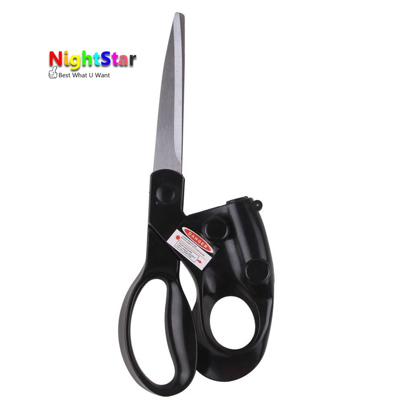 2018 Popular New Professional Laser Guided Scissors For home Crafts Wrapping Gifts Fabric Sewing Cut Straight Fast Scissor Shear