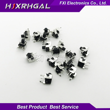New 50PCS Tactile Momentary Tact 6x6x7mm DIP Through-Hole 4pin Horizontal Wholesale Electronic