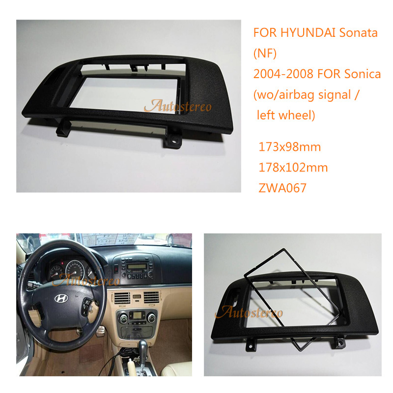 Car Radio Fascia For Hyundai Sonata Nf Sonica 2004 2008 Wo  Airbag Signal Car Dvd Frame Double