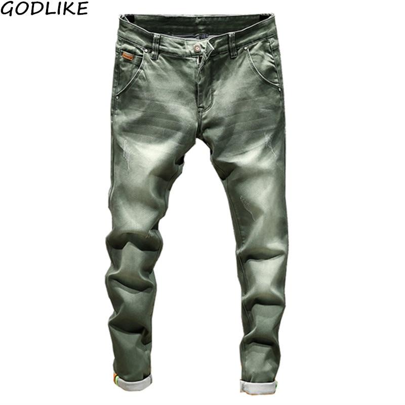 Fashion Men Casual Jeans Slim Fit Trousers Tight Pants / Skinny Jeans Men Straight Mens Denim Jeans / Male Stretch Trouser Pants