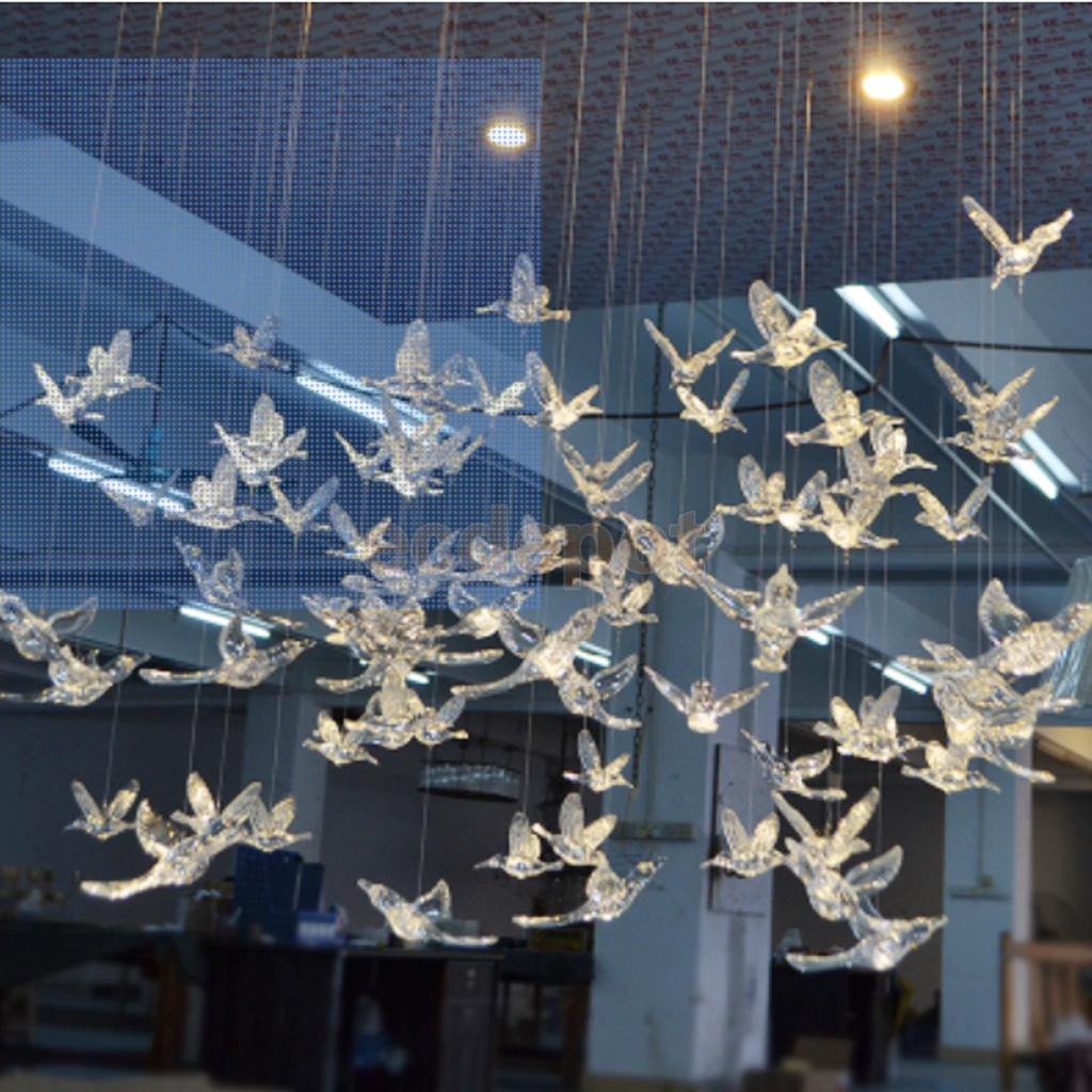 Window Hanging Decorations: Acrylic Birds Hanging Decoration Ornament For Wedding Home