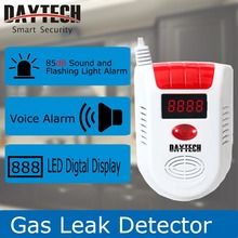 DAYTECH Home Security Gas Leak Detector Flammable Gas Leaking Alarm Sensor LPG/Natural Gas/Coal Gas LED Display GAS02(China)