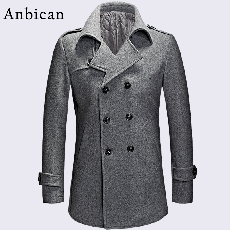 Popular Mens Gray Pea Coat-Buy Cheap Mens Gray Pea Coat lots from ...