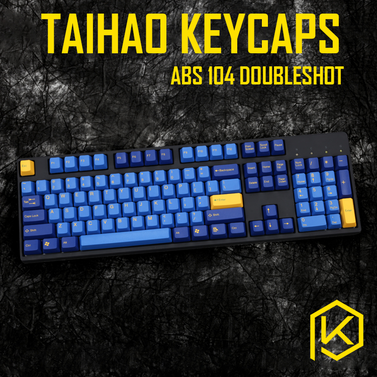 Taihao Abs Double Shot Keycaps For Diy Gaming Mechanical Keyboard Color Of Nautilus Blue Yellow Light Blue Pink