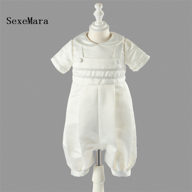 be3ebedc8012 New Ivory White Infant Gown Baby Boys Baptism Dress Christening Gown Size 0  3 6 9