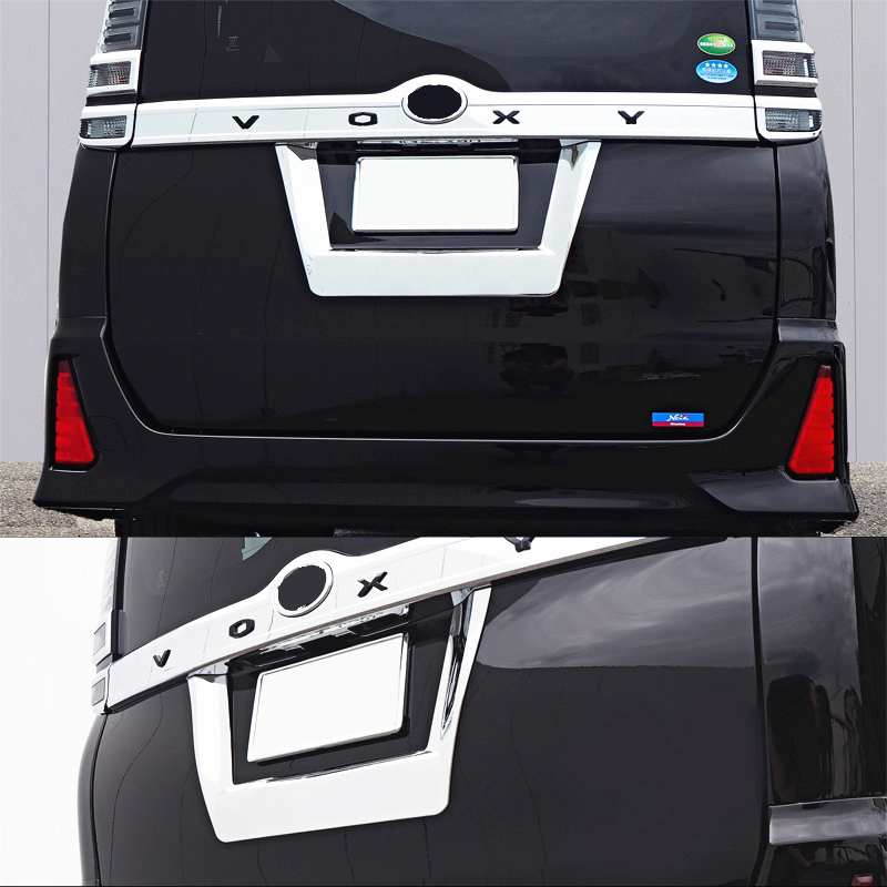 JY SUS304 Stainless Steel Rear Gate License Plate Number Trim Car styling Protector Accessories For Toyota Voxy2014-17JY SUS304 Stainless Steel Rear Gate License Plate Number Trim Car styling Protector Accessories For Toyota Voxy2014-17
