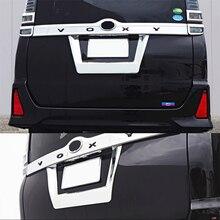 JY SUS304 de Aço Inoxidável Porta Traseira Da Placa de Licença Número de estilo Do Carro Guarnição Acessórios Protetor Para Toyota Noah/Voxy2014-17